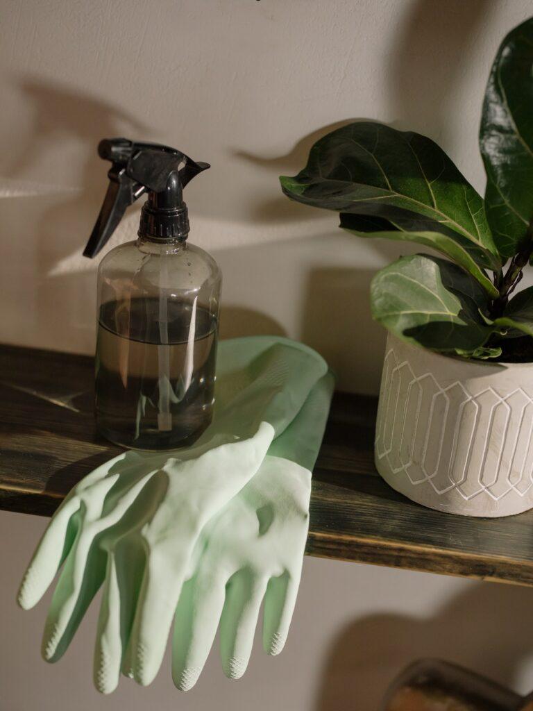 rękawiczki na półce